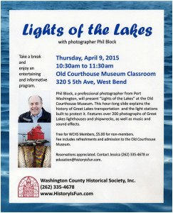 Lights of the Lakes Old Courthouse Show Flyer
