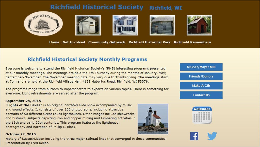 Richfield Historical Society Event Announcement
