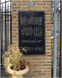 Milwaukee Yacht Club Plaque