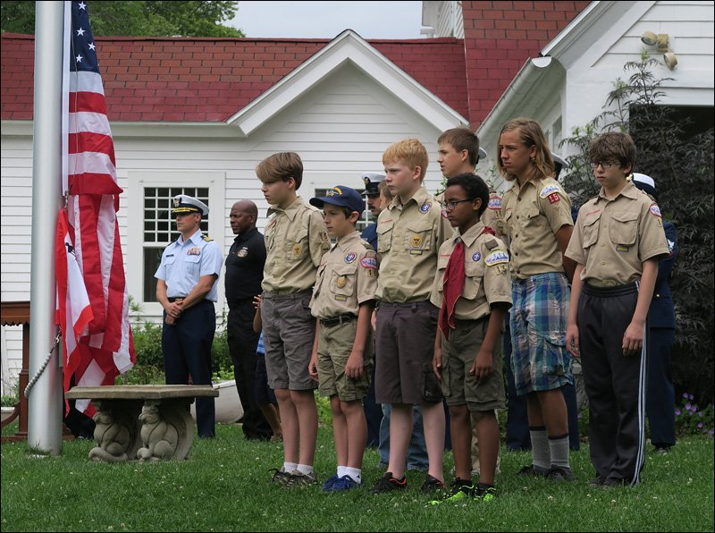 North Point Light Station – Flag Raising Ceremony