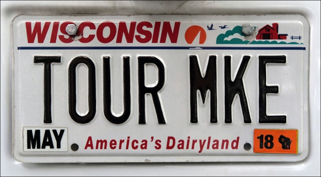 Tour Bus License Plate