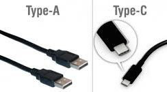 USB Type A and C Plugs
