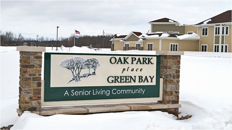 Oak Park Place Green Bay Sign