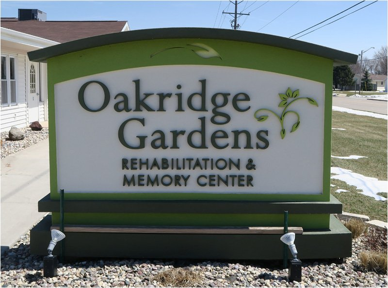 Oakridge Gardens - Sign