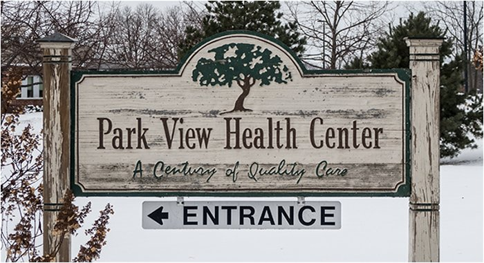 Park View Health Center Sign