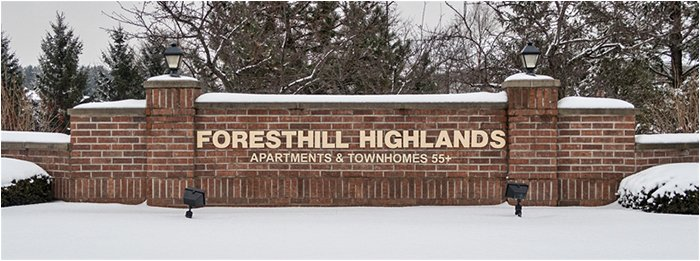 Foresthill Highlands Sign